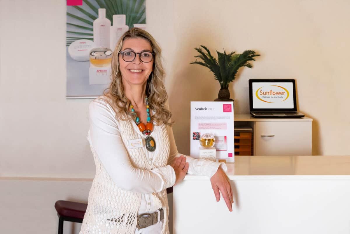 Beatrice Krähenbühl, Inhaberin Wellness- und Kosmetikstudio Sunflower, Brügg